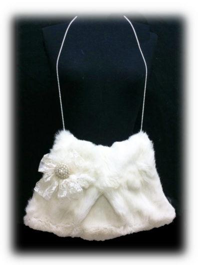 Свадебная муфта для невесты модель Д08 фото