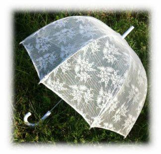 Свадебный полупрозрачный зонтик Катрина модель Знт14 фото