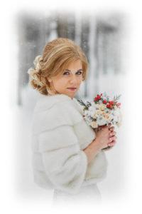 Норковая шубка для невесты