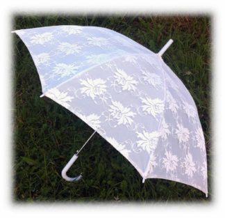 Белоснежный зонт трость Алисия модель Знт10 фото