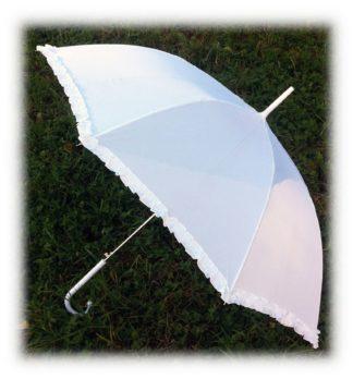Простой белый зонт Люция модель Знт17 фото