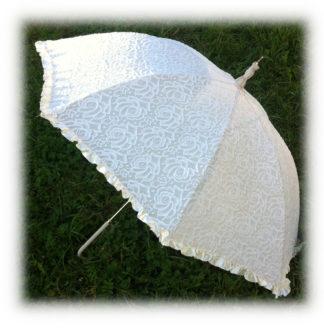 Свадебный зонт шампань Клара модель Знт11 фото