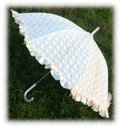 Свадебный зонт шампань Аурелия модель Знт07 фото