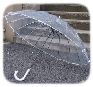 Большой прозрачный зонт модель Знт16 фото