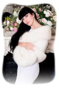 Норковая накидка для невесты