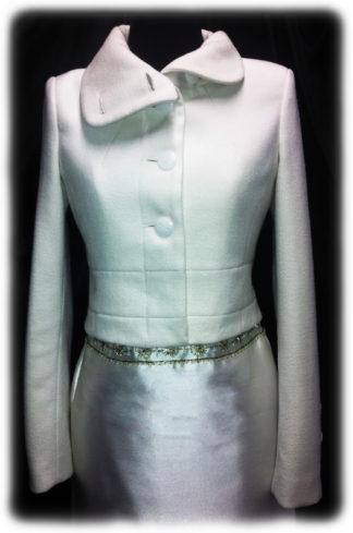 Свадебное пальто короткое айвори модель Т10 фото