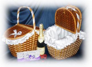 Свадебная корзина для пикника