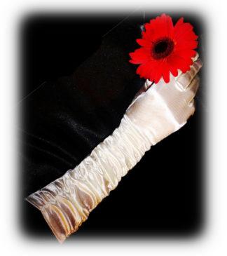 свадебные перчатки цвета айвори