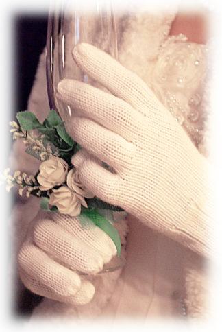 Свадебные теплые перчатки