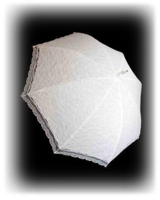 Белый свадебный зонт Агнешка модель Знт08 фото