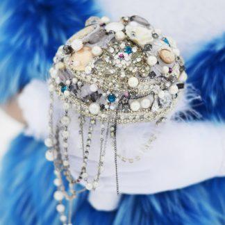 Свадебный брошь-букет напрокат