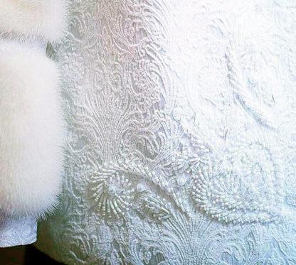 Белая свадебная шубка с норкой Иркутск